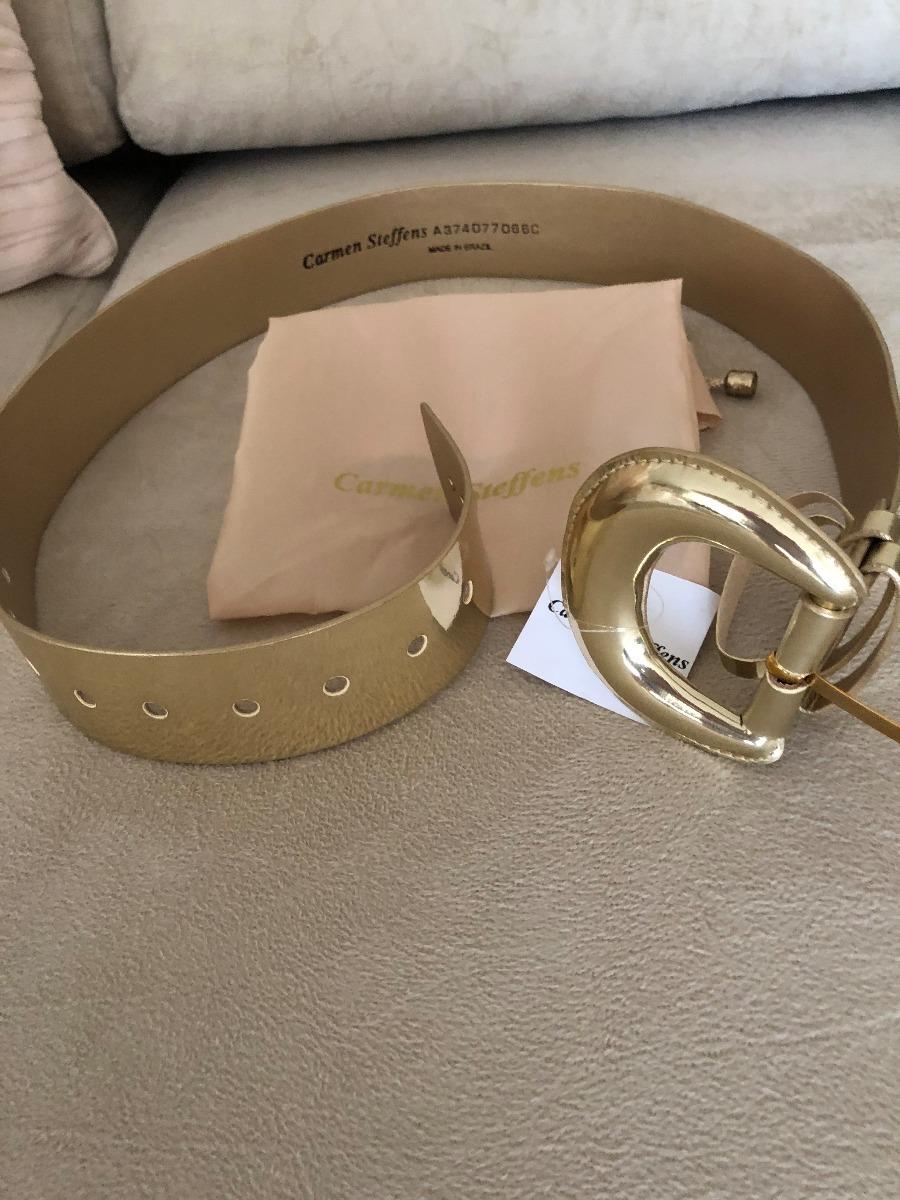 fe611456c Cinto Liso Dourado Carmen Steffens - R$ 259,99 em Mercado Livre