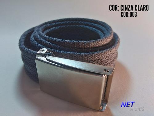 cinto masculino em gorgurão c/ fivela militar kit c/ 06