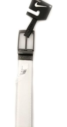 cinto nike golf masculino branco / preto - reversível nº: 44