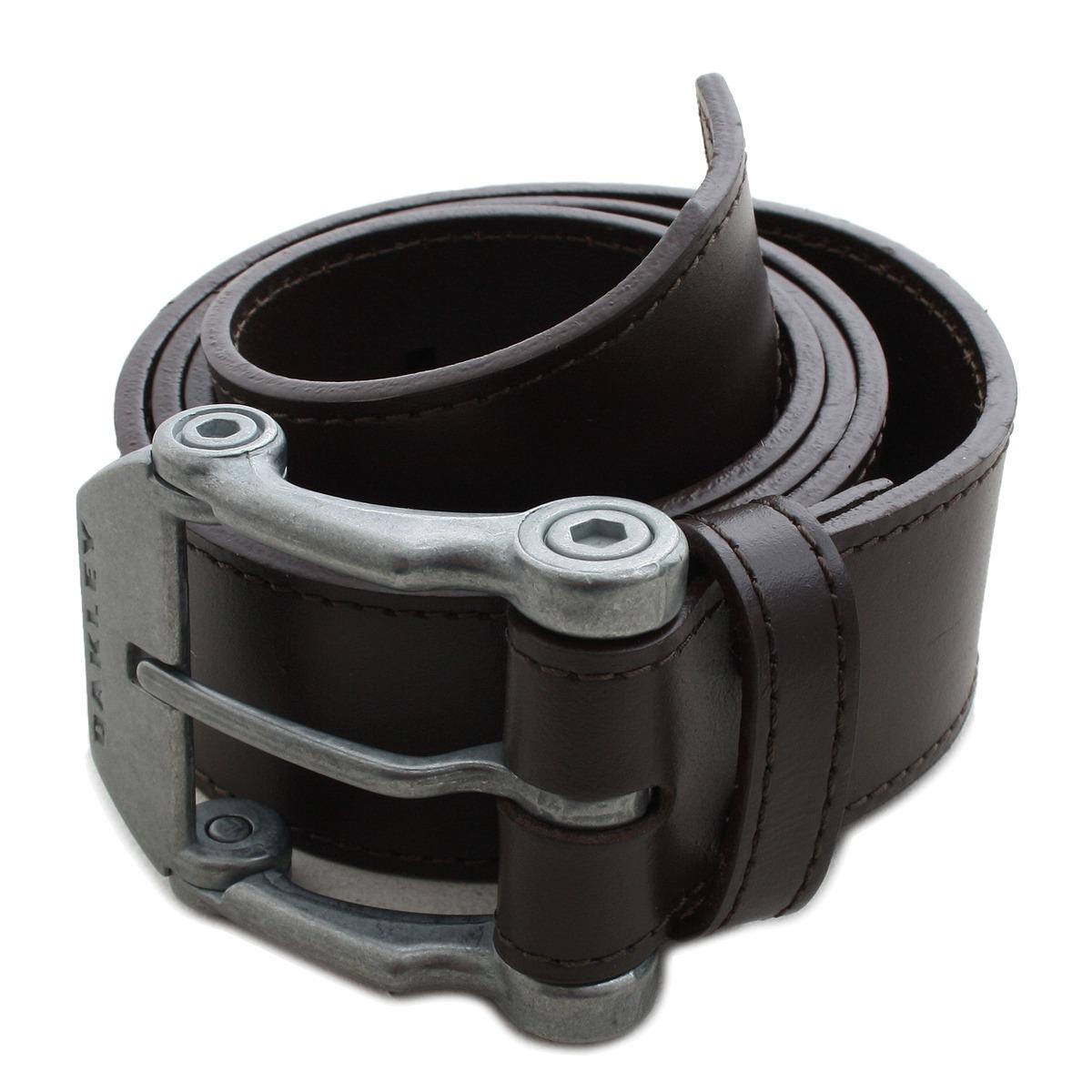 1d30abba43c58 cinto oakley couro liso marrom leather belt. Carregando zoom.
