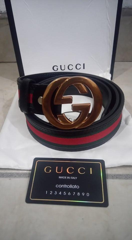 be88f5674 Cinto Para Caballero Gucci Buckle Gold - $ 1,500.00 en Mercado Libre