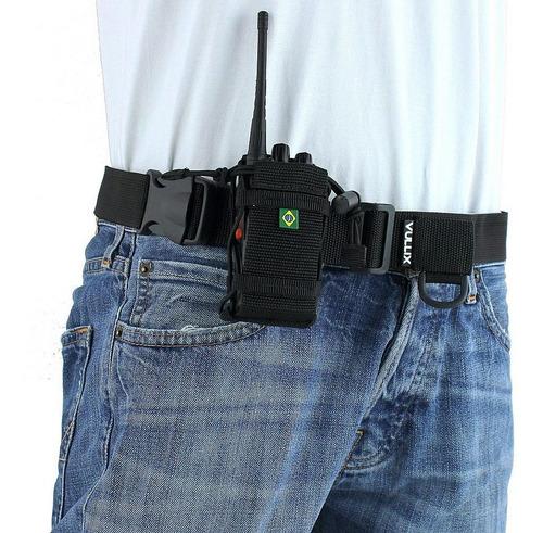 cinto para rádio comunicador ht walk talk vullix 1 bolso