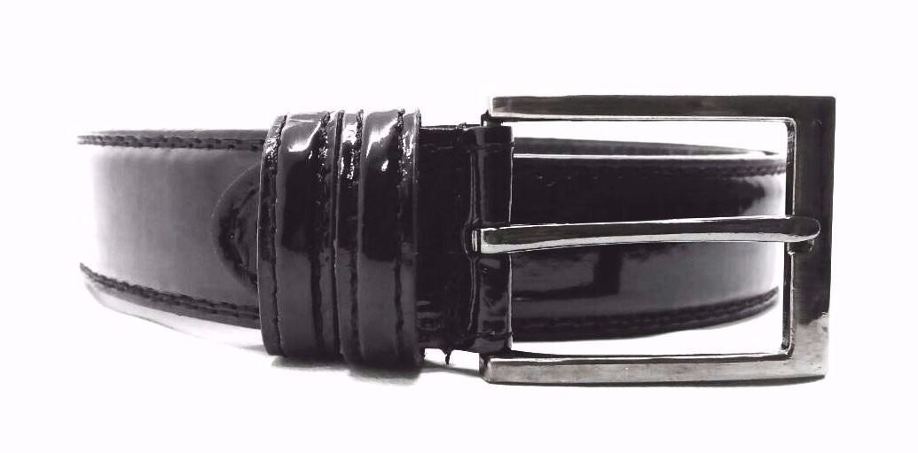 59fb1e30b0 cinto social masculino em couro legítimo preto/verniz barato. Carregando  zoom.