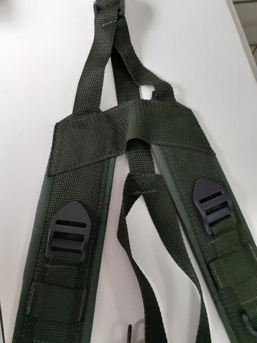 cinto suspensório militar verde oliva
