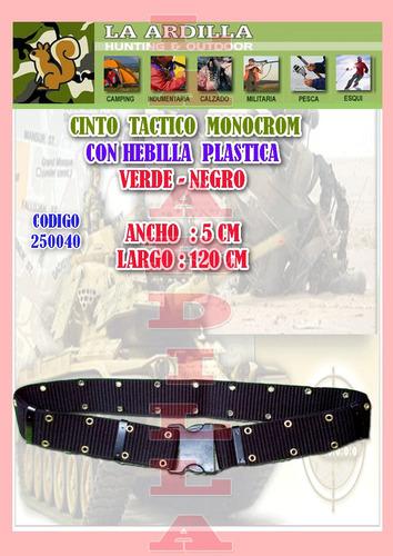 cinto tactico monocrom  militar de combate hebilla  plastica