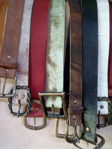 cintos artesanales 100% cuero