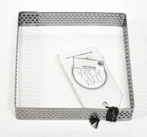 cintura perforada molde cuadrado 12x12cm doña clara