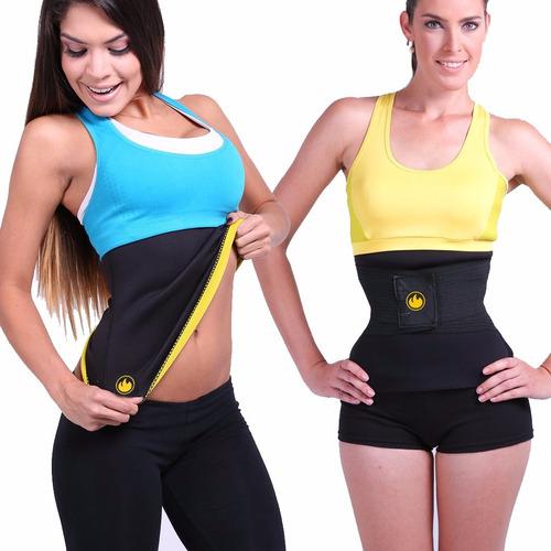 cinturilla hot tv + instant cintura avispa mega shapers + ob