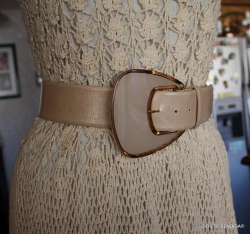 cinturon ancho cuero hebilla como carey