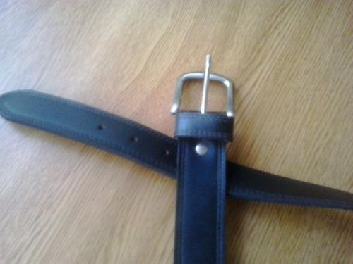 cinturon ancho de cuero medida 100 cms.