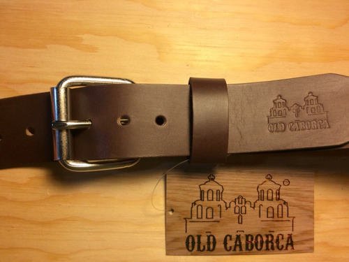 cinturon cafe talla extra 46-52 piel genuina 38mm
