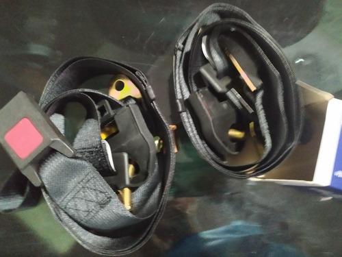 cinturon certificado 3 puntos reata color negro x 2 unid