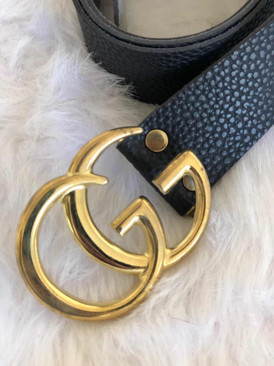 Cinturon Cinto Cuero Ecologico   estilo   Gucci Gg -   599 c90a19d96b5