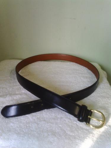 cinturon coach negro de piel para hombre talla 40