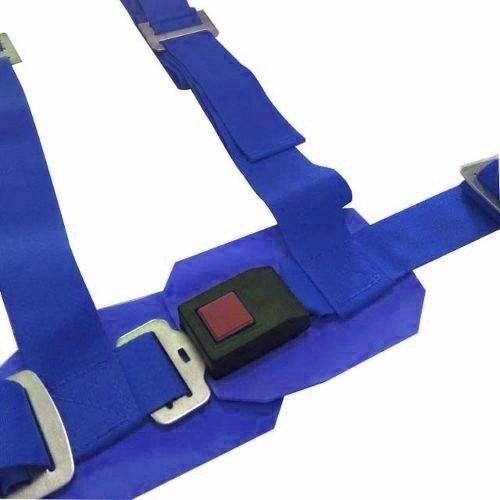 cinturón competición butaca deportiva 4 puntas tunning azul