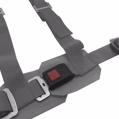 cinturón competición butaca deportiva 4 puntas tunning gris