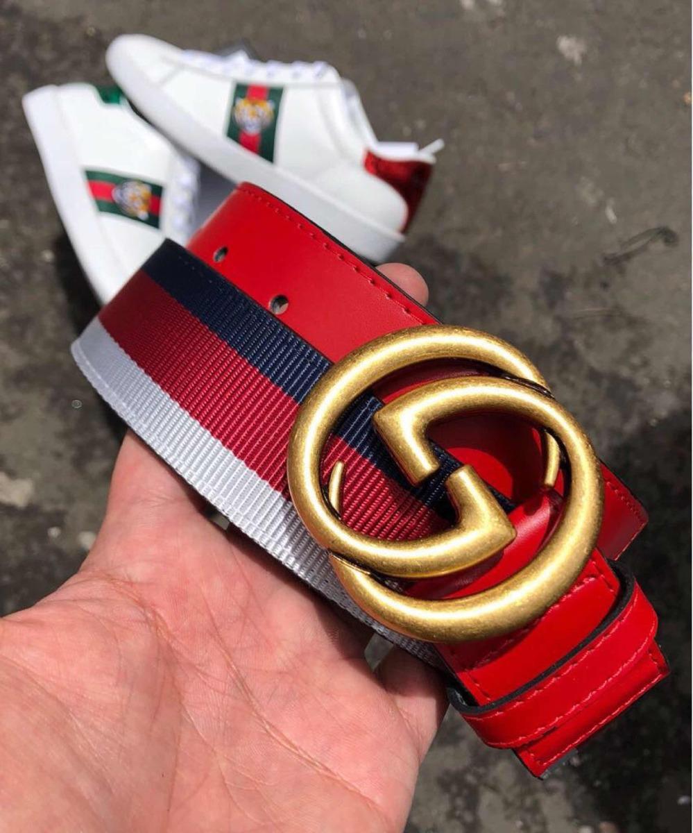 57f463558 Cinturón Correa Cuero Gucci De Lujo Gucci - $ 65.500 en Mercado Libre