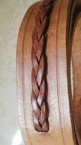 d21ae3bc Cinturón Cuero Color Tostado Detalle Trenzado Cintura H/96cm