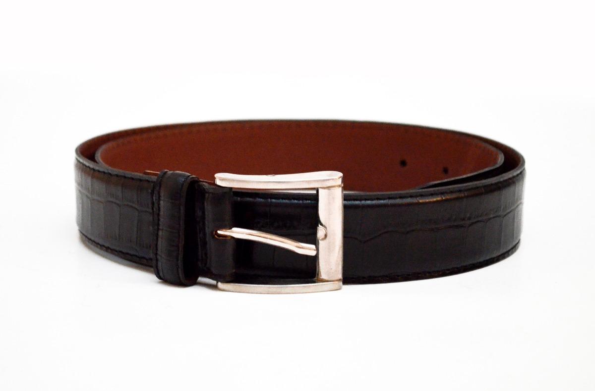 7dce9cc6e9a Cinturon Cuero Negro Grabado Croco Talle 110 A 120 Art 970 -   890 ...