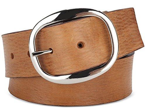 cinturón de apenado vintage de grano superior para hombres,