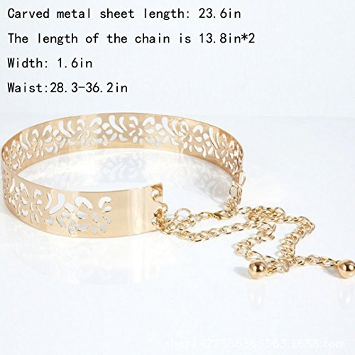 130cf4b67ab43 Cinturón De Cintura Perforada Obi-belt Metálico De Felice - $ 113.989 en  Mercado Libre