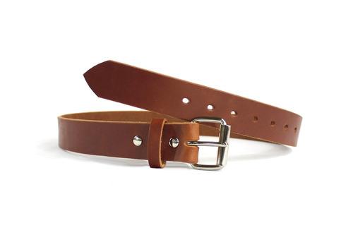 cinturón de cuero de lomo de cuero liso saddle tan smooth -