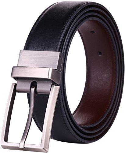 Cinturon De Cuero De Vestir Reversible Para Hombre a0eeabdebaf4