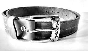 cinturon de cuero vacuno artesanal - mv cueros (416)