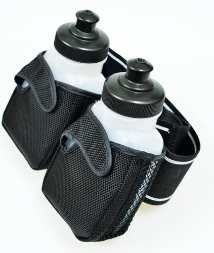 cinturon de hidratacion con 2 botellas - neoprene