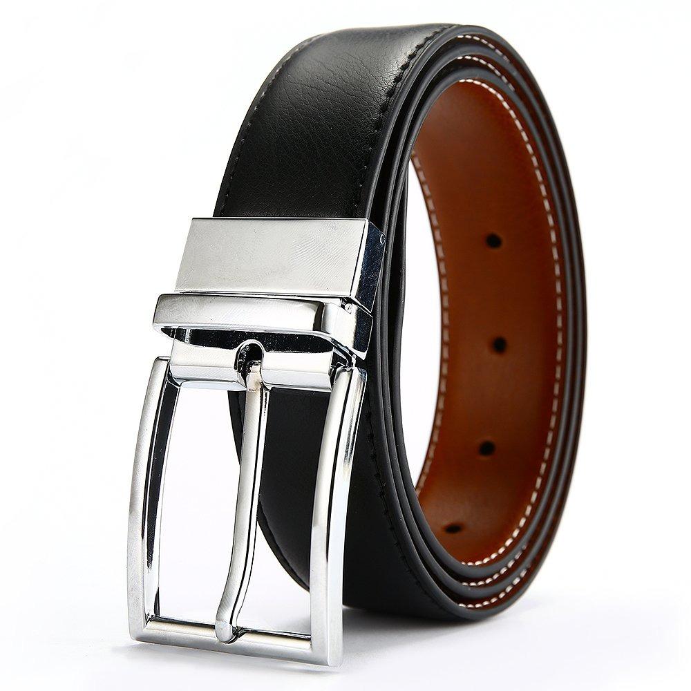 Cinturón De Hombre De Cuero Genuino Dwts Para Hombre Reve - S  146 ... 0b940c5d54b5