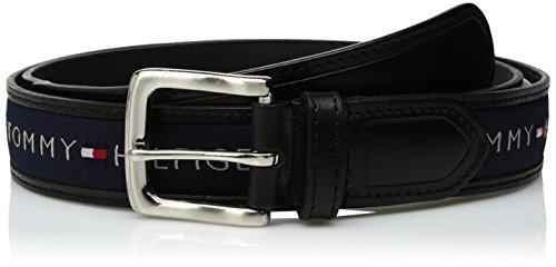 cinturón de incrustación de cinta tommy hilfiger para hombre