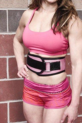 cinturón de levantamiento de pesas de nylon, apoyo traser...