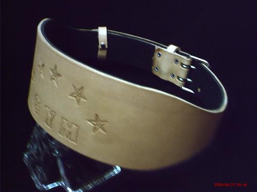 cinturon de pesas -trabajo-con nombre- cuero- fabricantes