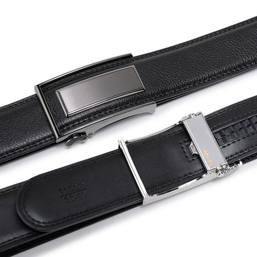 cinturón de ratchet de cuero beltox fine con hebilla automát