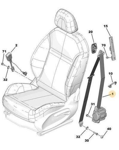 cinturón de seguridad delantero derecho