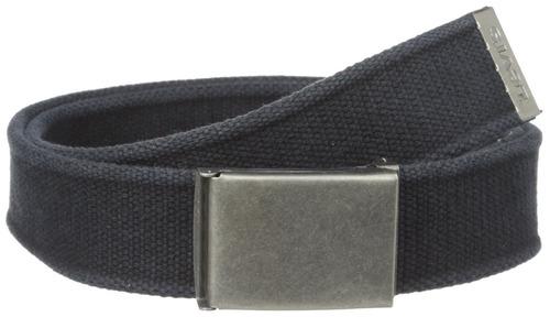 cinturón de tela de algodón levi's para hombre, negro, un ta