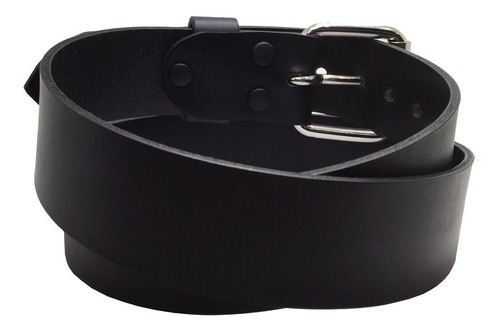 cinturon extra largo negro talla 46-52 piel genuina 38mm
