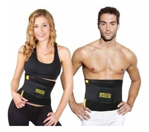 cinturón faja térmica de fuerza - adelgaza y saca cintura