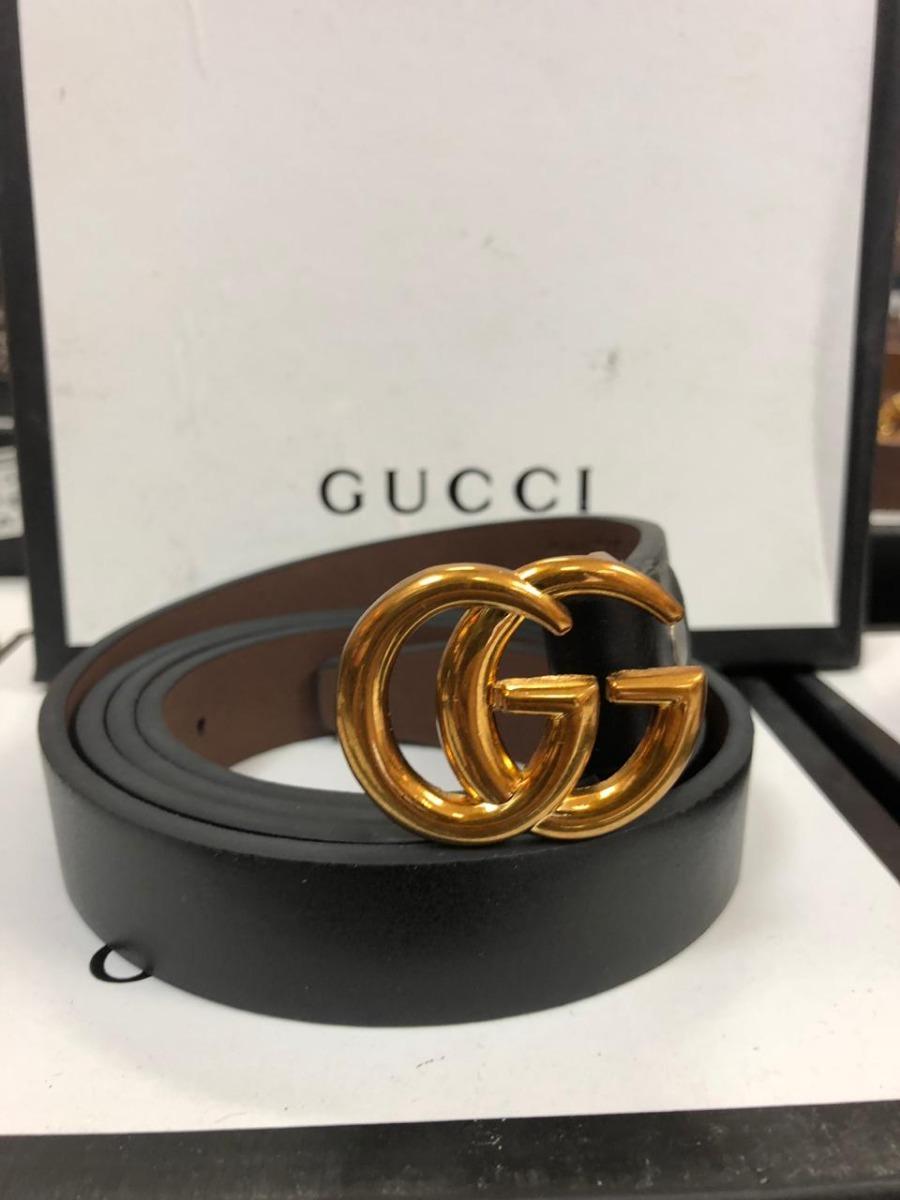 2e797f7a06ed4 Cinturón Gucci Gg Delgado Para Dama Y Niños -   550.00 en Mercado Libre