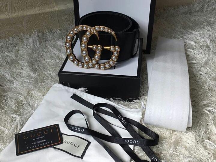 Cinturón Gucci Gg Perlas 7cm -   3 b1884f4fe977