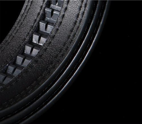 cinturon hombre lujo hebilla automatica - color negro d3