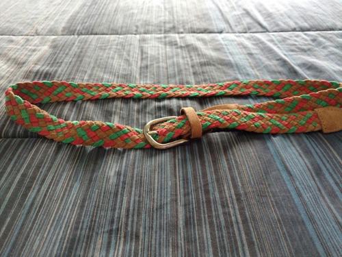 cinturón isadora gamuza trenzada