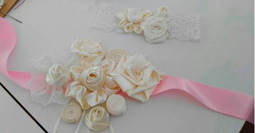 cinturon liston  para novia o quinceañera en rosa