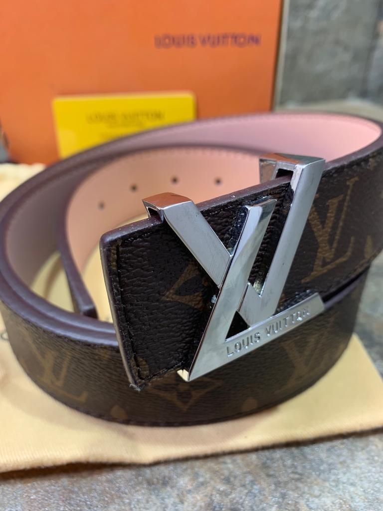 2ab912e78 Cinturon Louis Vuitton Monogram Café, Hebilla Plata - $ 999.00 en ...