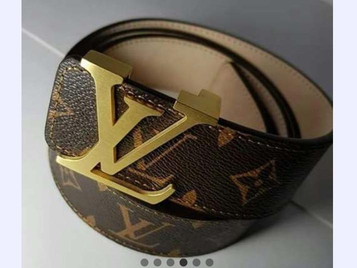 592b6b850 Cinturon L.v. Monogram Con Hebilla Dorada - $ 3.200,00 en Mercado Libre