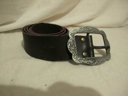 cinturon marron ancho