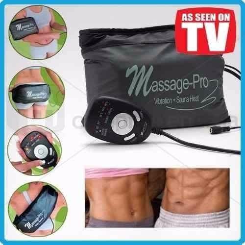 cinturon masajeador con vibracion y calor massage pro 12v