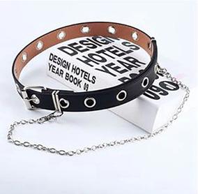 diseño distintivo compra especial Tener cuidado de Cinturón Mujer Negro Con Argollas