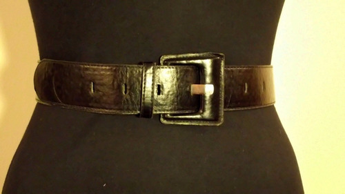 cinturon negro ecocuero mujer cintura / cadera oferta