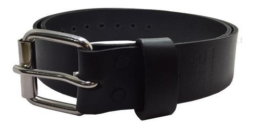 cinturon negro piel genuina old caborca alta calidad